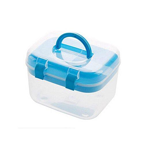 "[Set of 2] Creative Mini Portable First Aid Kit Travel Medical Box, BLUE,6.5""x5"""