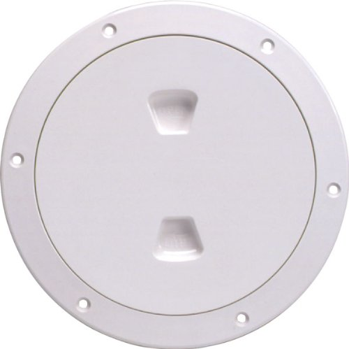Beckson DP60-W Screw-Out Deck Plate (White), 1 - Plates Beckson Deck