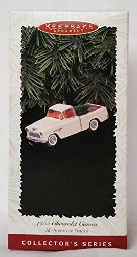 1996 Hallmark Keepsake Ornament 1955 Chevrolet Cameo, 2nd in All American Truck Series