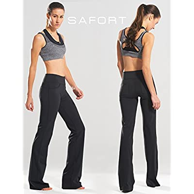 "Safort 28"" 30"" 32"" 34"" Inseam Regular Tall Bootcut Yoga Pants, 4 Pockets, UPF50+ at Women's Clothing store"