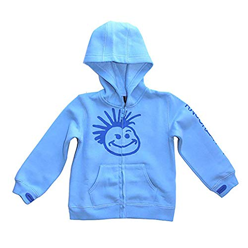 Knuckleheads - Toddler Hooded Sweatshirt Boys Grey Logo Pullover Zip up Hoodie (3t, Baby Blue) (Blue Infant Pullover Hoody)