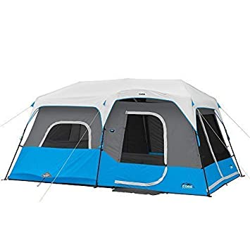 CORE Lighted 9 Person Instant Cabin Tent – 14 x 9