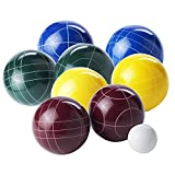 Franklin Sports Bocce Set - 8 All Weather Bocce Balls, 1 Pallino, and Deluxe Bocce Set Carry Bag - Beach, Backyard, or Party Outdoor Fun - Professional Set