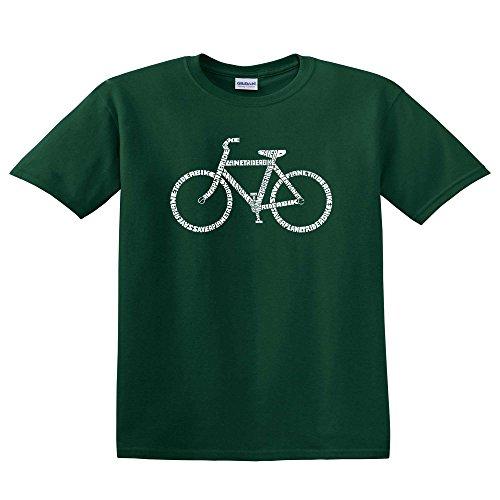 LA Pop Art - Men's T-shirt - Save a Planet, Ride a Bike - Forest Green - XX-Large