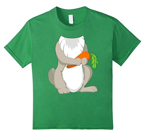 Day Bunny Green Costume (Kids Rabbit Costume T-Shirt for Halloween Bunny Animal Cosplay 8)