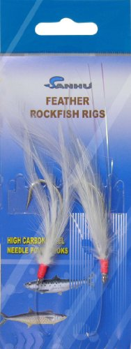 Rock Cod Feather Rigs 5/0 White-10 Packs