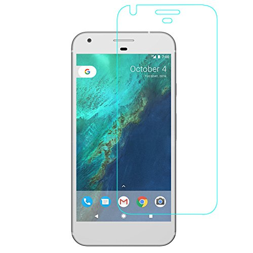 BONUM Google Pixel Screen Protector Ultra Clear 9H Anti-Scratch Tempered Glass,2.5D Rounded Edges Bubble-Free Install Glass Film - 2 Piece