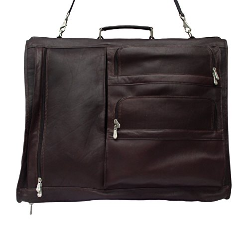 Piel Leather Traveler Executive Expandable Garment Bag in Chocolate by Piel Leather