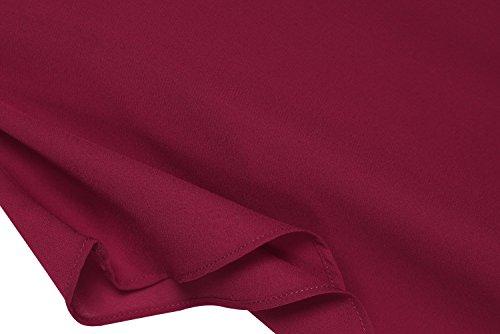 Para Mujer Camisas Borgoña Zeagoo Zeagoo Camisas wnIYHptqx