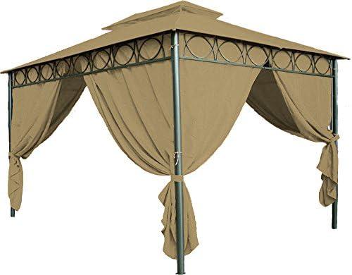 Techo repuesto para el pabellón Cape Town, 4 x 3, en 3 colores - techo de cenador, marrón: Amazon.es: Jardín