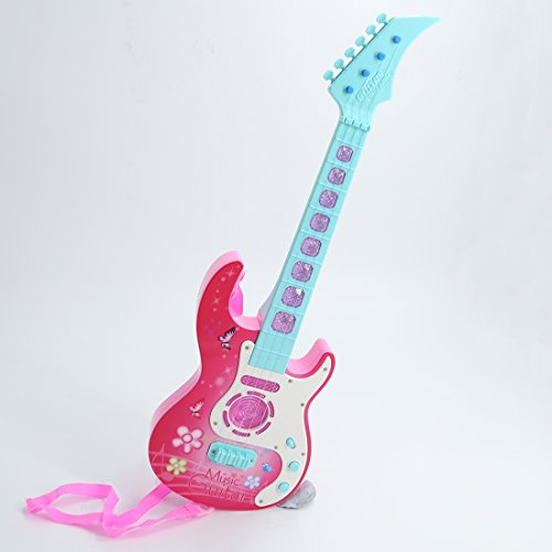 Amazon.com: RuiyiF Toddler Guitar for Girls Boys with Strap, Electric Toy Guitar for Kids Ages 3(Pink): Toys & Games