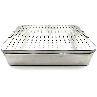 Stainless Steel Sterilization Tray 18'' x 12'' x 4'' (45 x 30 x 10 cm)