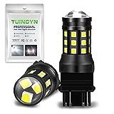 TUINCYN 3157 3156 LED Bulb Extremely Bright 2700 Lumens 3030 27SMD 3047 3057 3457 3155 3456 Brake Light Stop Parking Light Turn Signals Bulb Side Markers Lamp 6000K White DC 12V-24V (Pack of 2)