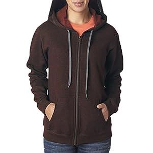 Gildan Women's Vintage Full-Zip Hooded Sweatshirt, Medium, Russet