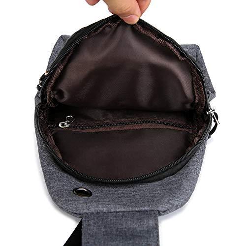 A Messenger grigio Borsa Uomo Multifunzione Esterni Moda Spalla Per Sportiva Squisito Scuro Bello E Tracolla Da q7gtYt