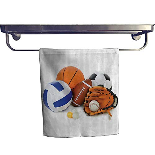 Leigh home Quick-Dry Towels,Many Different Sports Balls All Together Champiship Ping Pg Volleyball Olympics ,Microfiber Towel W 8