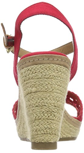 Cheville 4890805 Rot red Bride Tom Tailor Femme Sandales IFBIRx