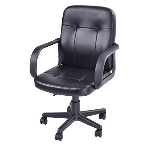 Ergonomic PU Leather Midback Executive Computer Best Desk Task Office Chair