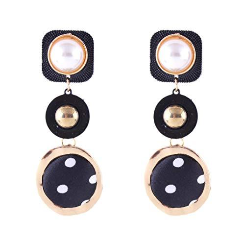 Sapphire Dragonfly Earrings (Yeefant 1 Pair Round Pendant Shaped Steel Stud Diamond Jewelry Earring for Girl,Black Black Wave Point)