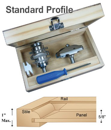 Insert-Pro Door Making Router Bit Set - Standard Profile