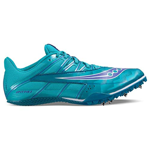 (Saucony Women's Spitfire 4 Track Shoe, Teal/Blue, 9 M US)
