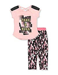 Girl Squad Girls' 2-Piece Pants Set Outfit
