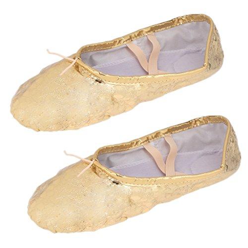 貸し手ナチュラアクチュエータLovoski 女性 女の子 スパンコール バレエ ポアント 体操 ダンス シューズ 靴 全2色5サイズ選べる