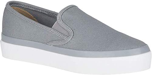 Sperry Top Sider Women/'s Seaside Aerial Fashion Slip On Sneaker Grey Fabric