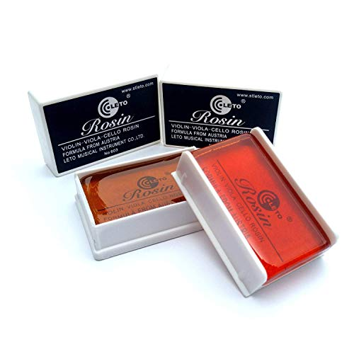 Natural Bow Rosin (Leto #603, Red & Amber) for Violin, Viola, and Cello