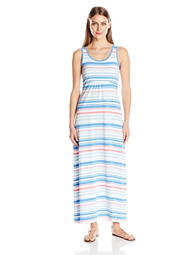 Variegated Women's Stripe Maxi Beauty Reel II Columbia Harbor Blue Dress 1x8qdxS