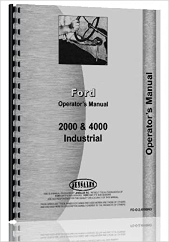 Ford 4000 industrial tractor operators manual 1962 1964 jensales ford 4000 industrial tractor operators manual 1962 1964 jensales ag products 0739718042971 amazon books fandeluxe Choice Image