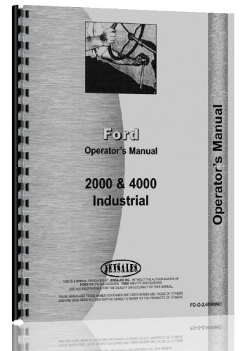 - Ford 4000 Industrial Tractor Operators Manual (1962-1964)