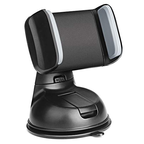 MAXAH Phone Holder for Car, Universal Silicone Sucker Cell Phone Car Mount for Dashboard and Windshield, Compatible with iPhone X 8 8+ 7 7 Plus 6s Plus 6s SE Samsung Galaxy S9 S9+ S8 S7 Edge S6 S5
