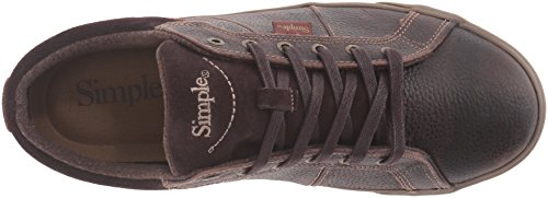 Simple Hommes Waveoff Mode Sneaker Brun Foncé