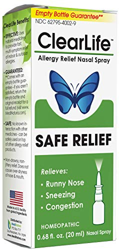 ClearLife Allergy Relief Nasal Spray for Multi-Symptom Relief in Any Region - Homeopathic Formula - 0.68 Ounce