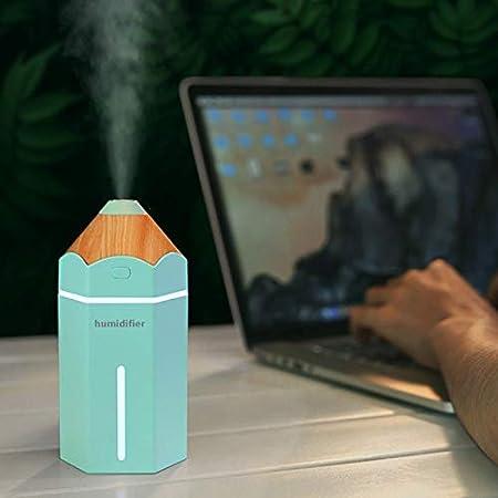 RETYLY L/ápiz Humidificador USB Ultras/ónico Aromaterapia Humidificador De Aire Luz Led Aroma Difusor Niebla Fabricante Fogger Coche Purificador De Aire Azul