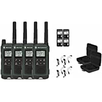 Motorola Talkabout T465 Two-Way Radios / Walkie Talkies - Weatherproof 22 Channels PTT IVOX Flashlight 4-PACK