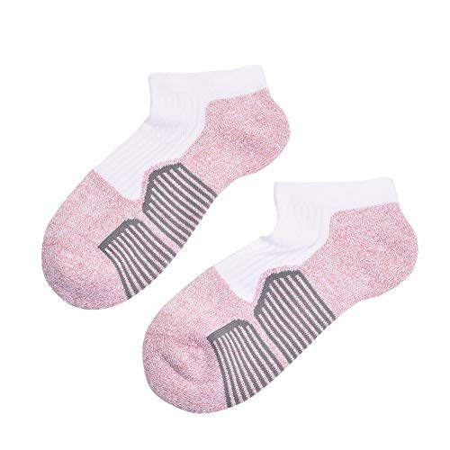 philosoper Women's 3-Pack Sports Ankle Socks Stripe Color Stretch Breathable Net Shoes Compression Nursing Low Cut Sock
