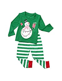 BETTERUU Pajamas Set Family Sleepwear Christma Print Long Sleeve Daddy Mom Kid