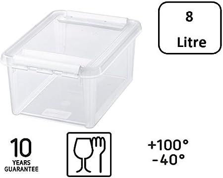 340 x 250 x 160 mm Transparent 3 x ORTHEX SmartStore Home 10 Box 8 Liter