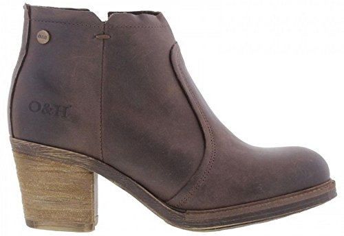 Oak & Hyde Eastwood Womens Heeled Ankle Boots Brown