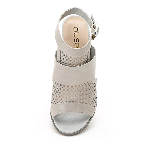 amp;scarpe Alti Laserature Con Sandali Spuntati Scarpe Cm Obsel Grigio Tacco 9 UqwPSpP