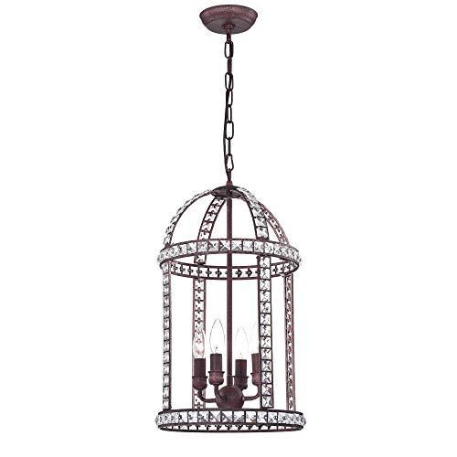 Warehouse of Tiffany Sheri 4-Light Rustic Iron Pendant Lamp RL8261RI