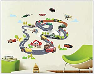 Cartoons Wall Sticker, Water Resistant and Saving Paint