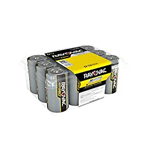 Rayovac D Batteries, Ultra Pro Alkaline D Cell Batteries (12 Battery Count) (B000A6V8FU) | Amazon Products