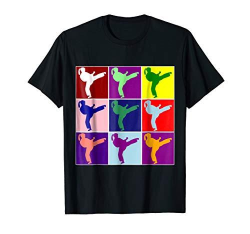 Cute Colorful Girl Karate Martial Arts Pop Type Art T-shirt (Best Martial Arts For Girls)