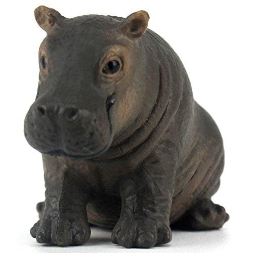 Jungle Animals Baby Hippo Hippopotamus Calf Toy Figure Realistic Plastic Figurine Height 1.5