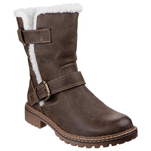 Boots Womens Brown Fleece Divaz Nardo Ladies Lined ABUaUnXx