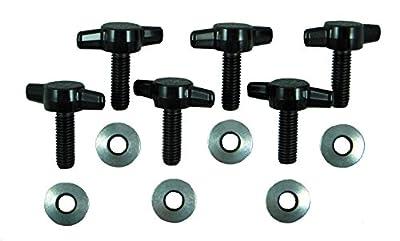 Jeep Wrangler JK Hard Top Quick Removal Change Kit set of 6 Tee Knobs fits all 2007 thru 2016 Models