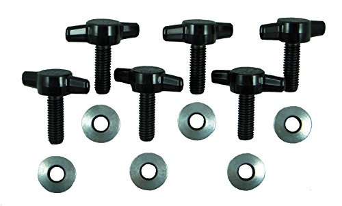 Jeep Wrangler JK Hard Top Quick Removal Change Kit set of 6 Tee Knobs fits all 2007 thru 2016 Models